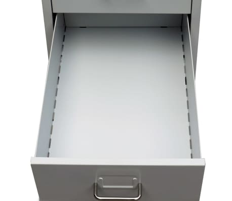 "vidaXL File Cabinet with 5 Drawers Gray 27"" Steel[5/7]"