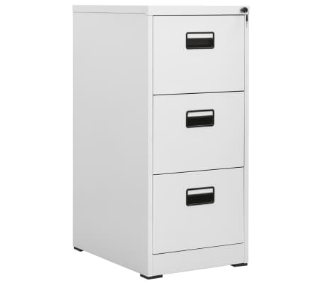 Vidaxl File Cabinet With 3 Drawers Gray Metal 1 8