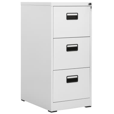 vidaXL File Cabinet with 3 Drawers Grey 102,5 cm Steel[1/8]