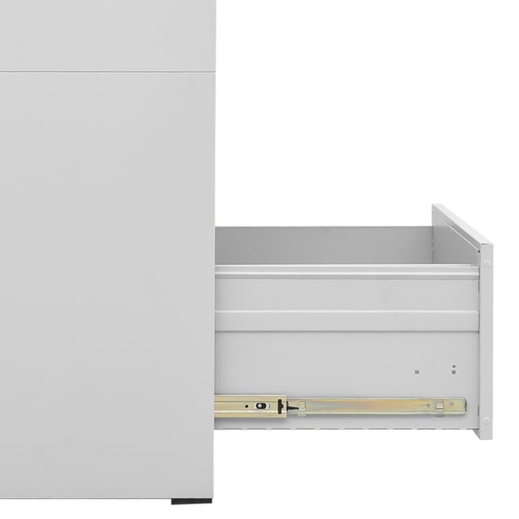 Kartotéka se 3 zásuvkami šedá 102,5 cm ocelová