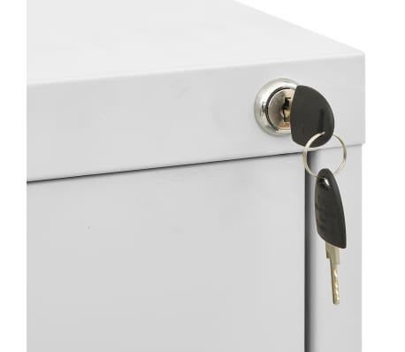 "vidaXL File Cabinet with 3 Drawers Gray 40.4"" Steel[5/8]"