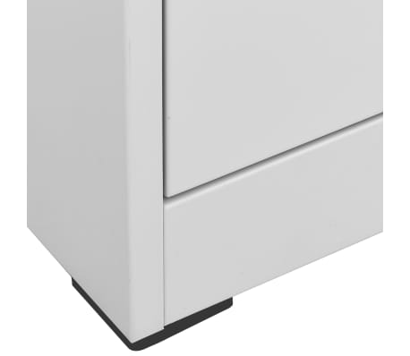 vidaXL File Cabinet with 3 Drawers Gray Metal[6/8]