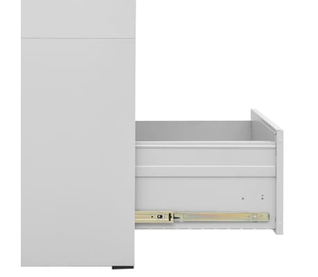 "vidaXL File Cabinet with 3 Drawers Gray 40.4"" Steel[7/8]"