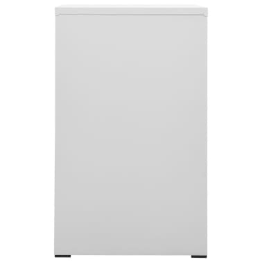 "vidaXL File Cabinet with 3 Drawers Gray 40.4"" Steel[4/8]"