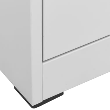 "vidaXL File Cabinet with 3 Drawers Gray 40.4"" Steel[6/8]"