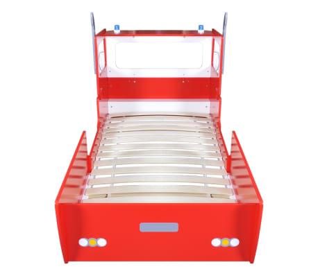 Children\'s Fire Engine Bed 200 x 90 cm Red | vidaXL.ie