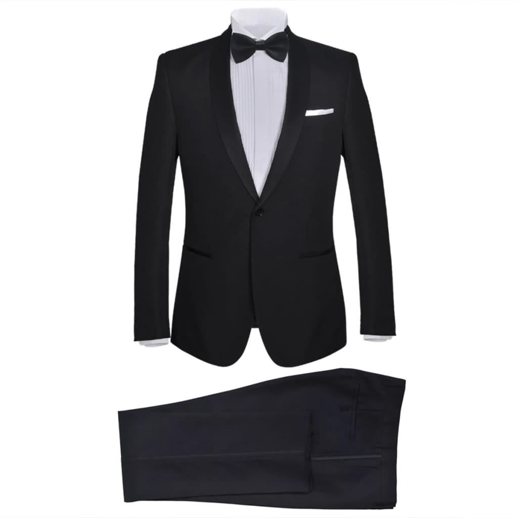 99130822 2-tlg. Herren-Abendanzug/Smoking Tuxedo Schwarz Größe 46