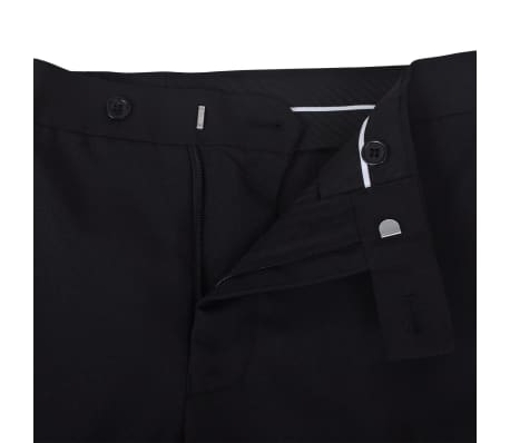 Esmoquin traje de gala de 2 piezas con corbatín para hombre talla 46 negro[7/11]