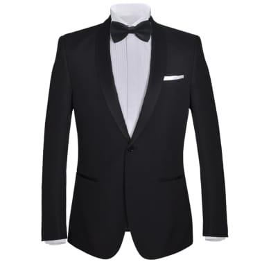 Esmoquin traje de gala de 2 piezas con corbatín para hombre talla 46 negro[2/11]