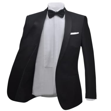Esmoquin traje de gala de 2 piezas con corbatín para hombre talla 46 negro[3/11]
