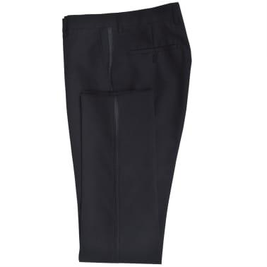 Esmoquin traje de gala de 2 piezas con corbatín para hombre talla 46 negro[4/11]