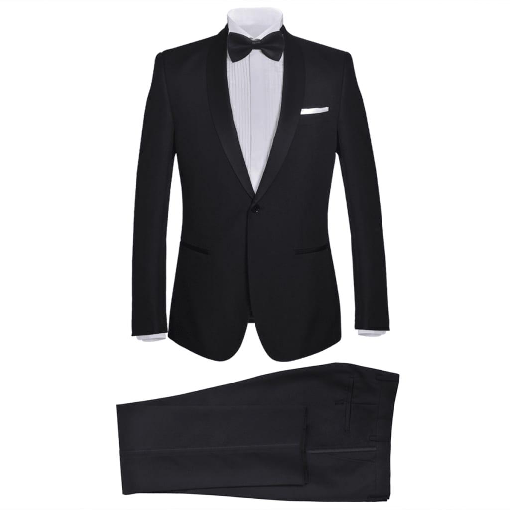 99130824 2-tlg. Herren-Abendanzug/Smoking Tuxedo Schwarz Größe 50