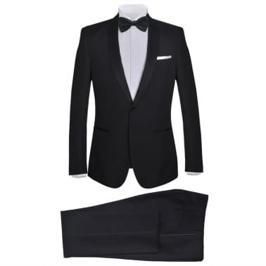 vidaXL Frac/ Costum de seară bărbătesc 2 piese mărimea 52 negru[1/11]