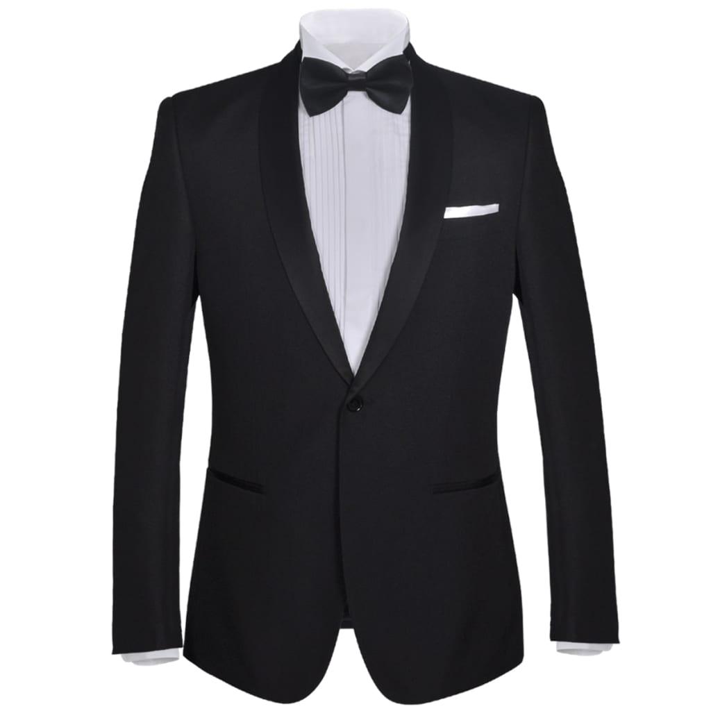 vidaXL Pánský dvoudílný večerní oblek / smoking, vel. 52, černý