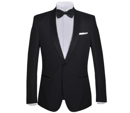 vidaXL Frac/ Costum de seară bărbătesc 2 piese mărimea 52 negru[2/11]