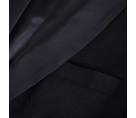 vidaXL Frac/ Costum de seară bărbătesc 2 piese mărimea 52 negru[8/11]