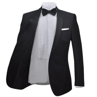 vidaXL Frac/ Costum de seară bărbătesc 2 piese mărimea 52 negru[3/11]