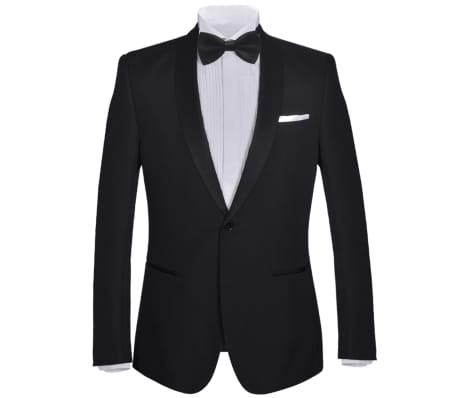 vidaXL Smoking de soirée 2 pièces Taille 54 Noir[2/11]