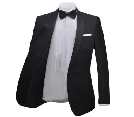 vidaXL Smoking de soirée 2 pièces Taille 54 Noir[3/11]