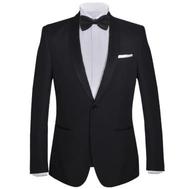 vidaXL Frac/ Costum de seară bărbătesc 2 piese mărimea 54 negru[2/11]
