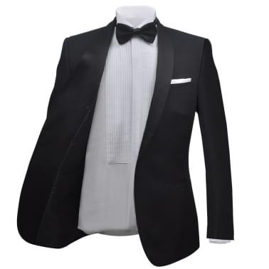 vidaXL Frac/ Costum de seară bărbătesc 2 piese mărimea 54 negru[3/11]