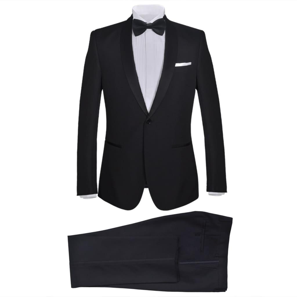 99130827 2-tlg. Herren-Abendanzug/Smoking Tuxedo Schwarz Größe 56