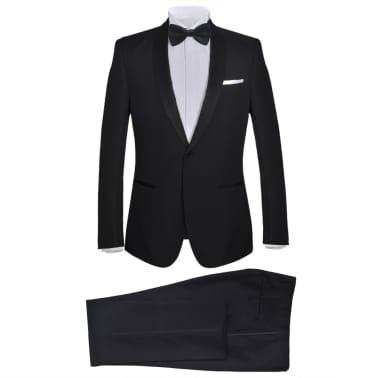 vidaXL Frac/ Costum de seară bărbătesc 2 piese mărimea 56 negru[1/10]