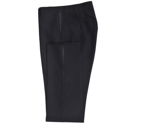 vidaXL Frac/ Costum de seară bărbătesc 2 piese mărimea 56 negru[3/10]