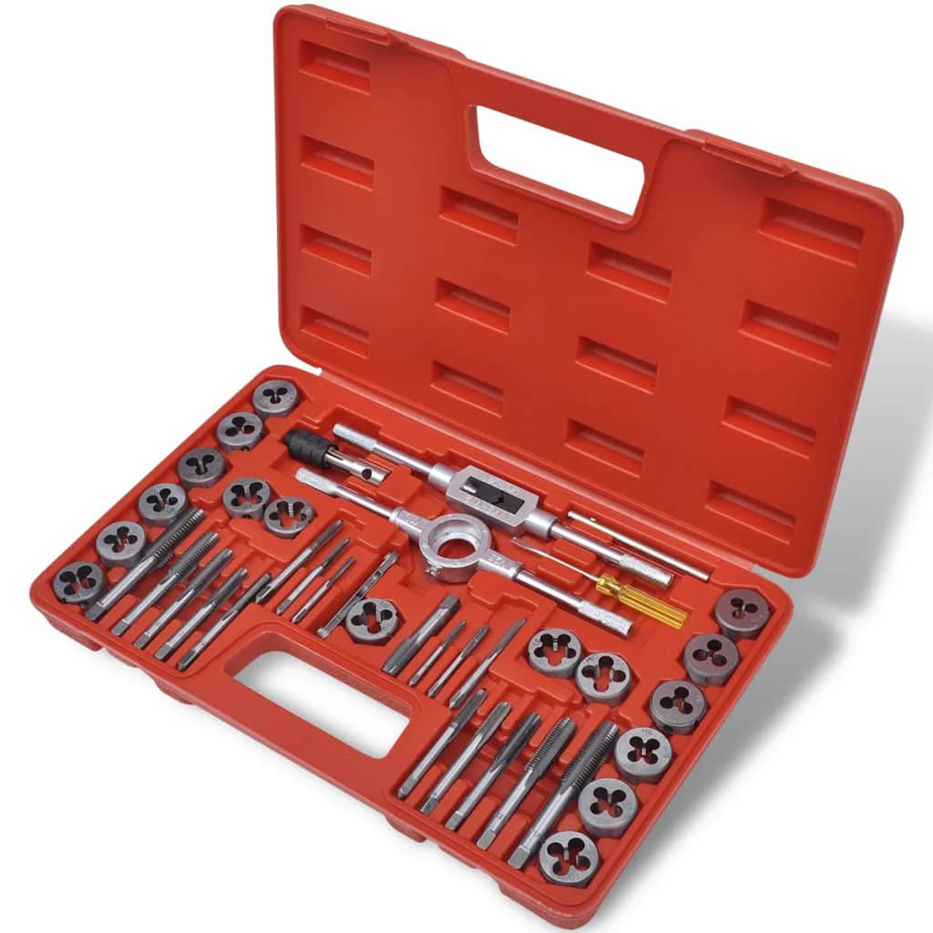 vidaXL 40 pcs Tap and Die Set