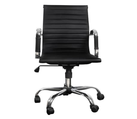 Black Leather Office Chair[4/4]