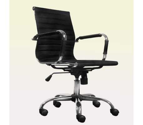 Black Leather Office Chair[1/4]