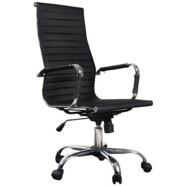 Black Leather Office Chair High Back[2/4]