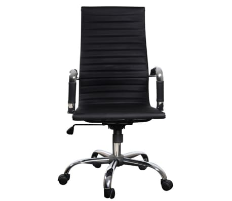 Black Leather Office Chair High Back[4/4]