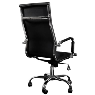 Black Leather Office Chair High Back[3/4]