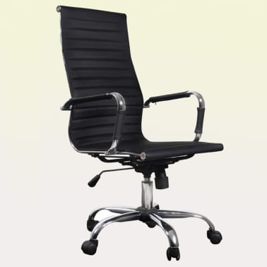 Black Leather Office Chair High Back[1/4]