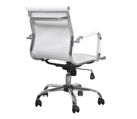 White Leather Office Chair[3/4]
