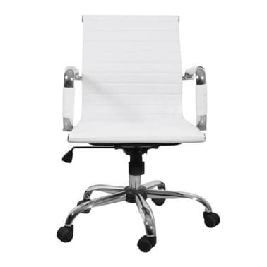 White Leather Office Chair[4/4]