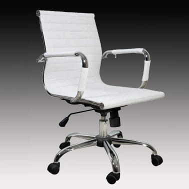 White Leather Office Chair[1/4]