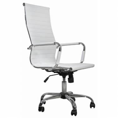 White Leather Office Chair High Back[1/3]