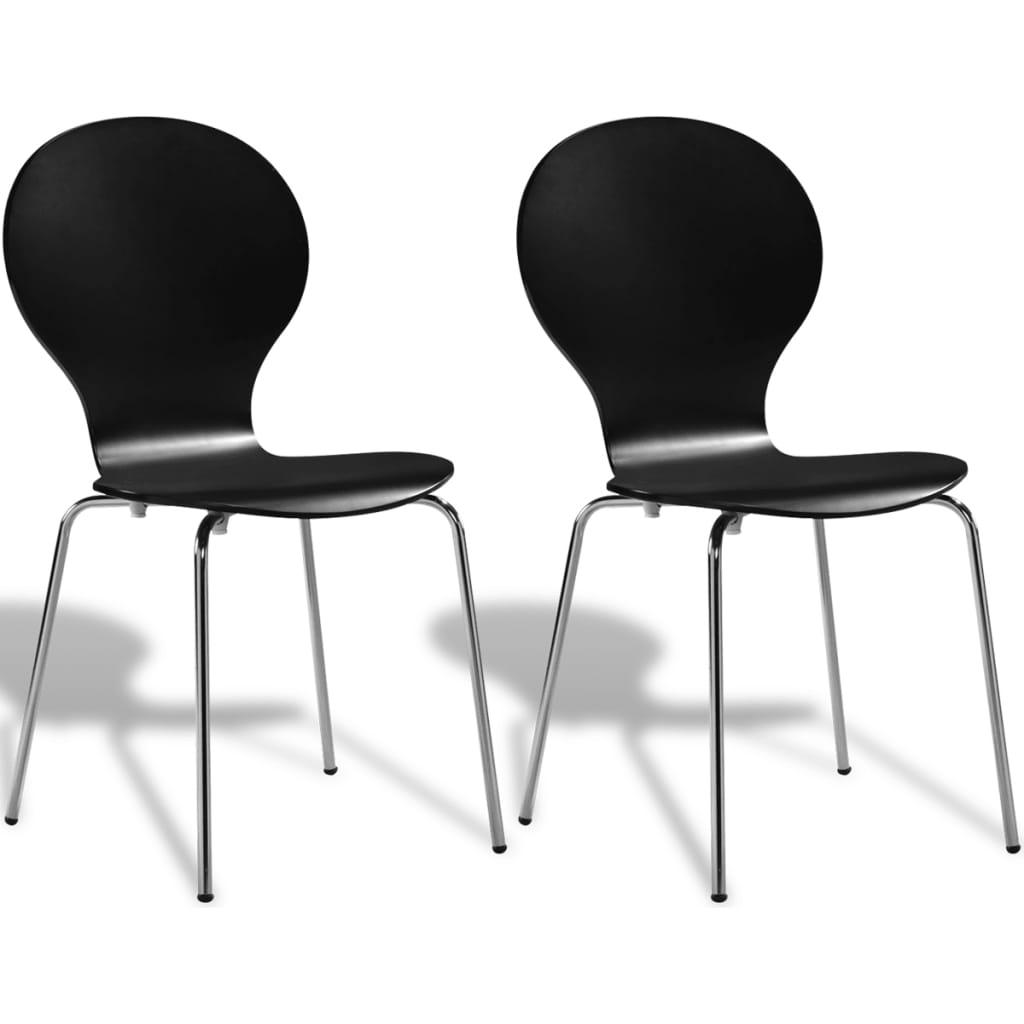 Καρέκλες Τραπεζαρίας Butterfly Στοιβαζόμενες 2 τεμ. Μαύρες
