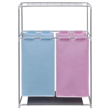 2-sektions tvättsorterare med en övre torkhylla[2/5]