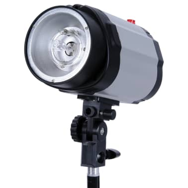 Studio Set: 2 Flash Lights 120 W/s with 2 Tripods & 2 Softboxes[7/10]