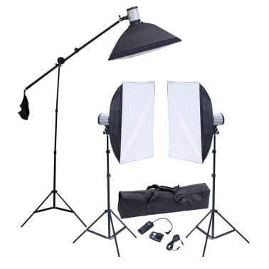 Studio Set: 3 Flash Lights, 3 Softboxes, 3 Tripods & 1 Flash Trigger[1/10]