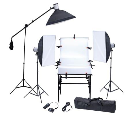 Studio Set: 3 Flash Lights, 3 Softboxes, 1 Shooting Table, etc.[1/13]