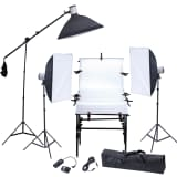 Studio Set: 3 Flash Lights, 3 Softboxes, 1 Shooting Table, etc.