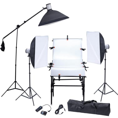 Studio Set: 3 Flash Lights, 3 Softboxes, 1 Shooting Table, etc.[1/13]