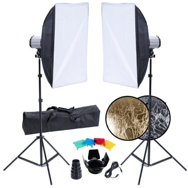Studio Set: 2 Flash Lights, 2 Softboxes, 2 Tripods, etc.[1/15]