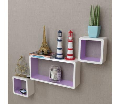 3er set mdf cube regal h ngeregal wandregal f r b cher dvd. Black Bedroom Furniture Sets. Home Design Ideas