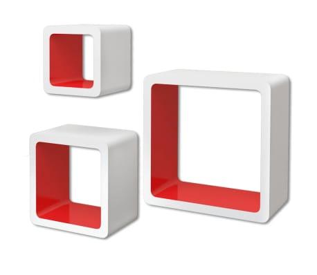 3er set mdf h ngeregal wandregal cube regal f r b cher dvd - Wandregal fur bucher ...