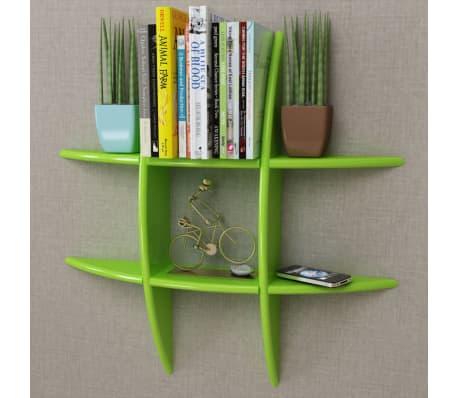 Green MDF Floating Wall Display Shelf Book/DVD Storage[1/4]